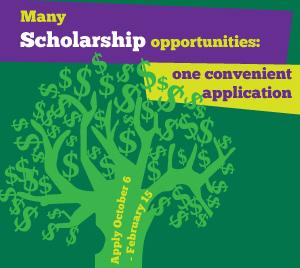 Scholarships Marketing box