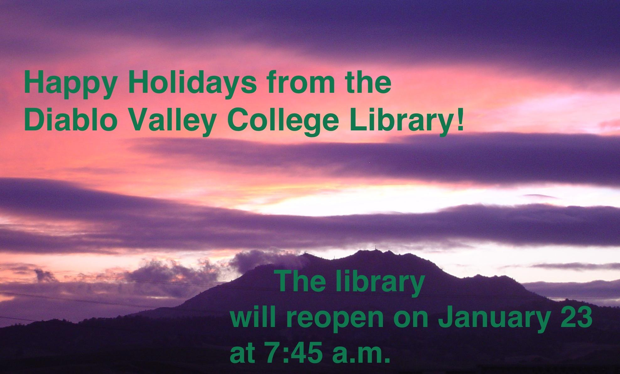 Happy Holidays from the DVC Library
