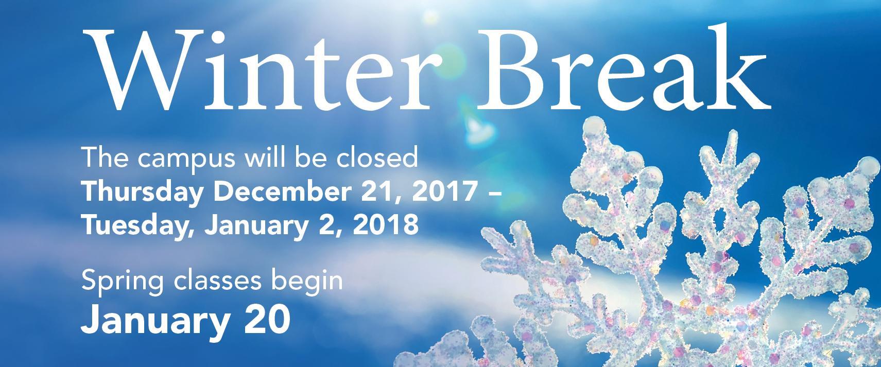 Winter Break 2017-18