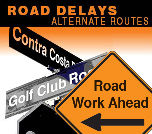 Golf Club Road Road Work