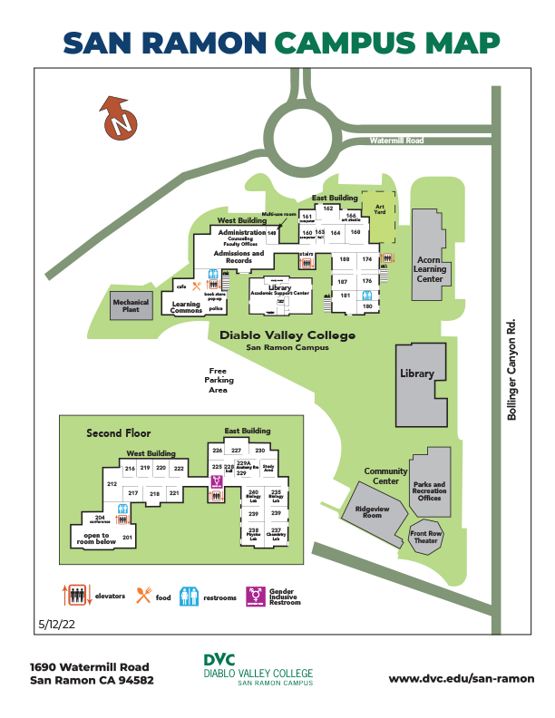 San Ramon Campus map