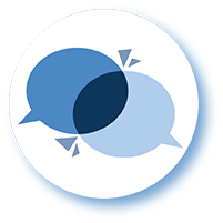 Communication and collaboration icon