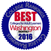 Washington Monthly College Rankings badge