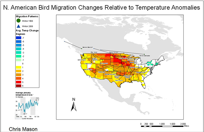 n. american bird migration changes
