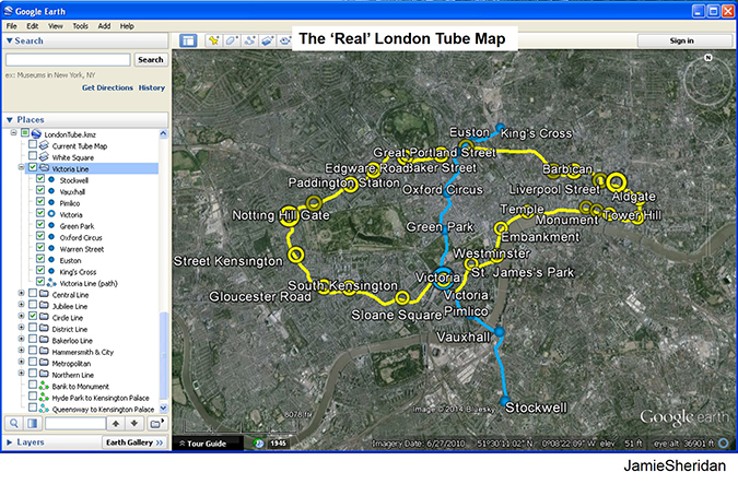 real london tube map