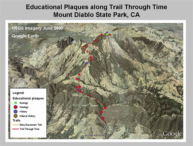educational plaques - Mt Diablo - student project