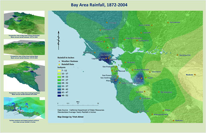 bay area rainfall - student project