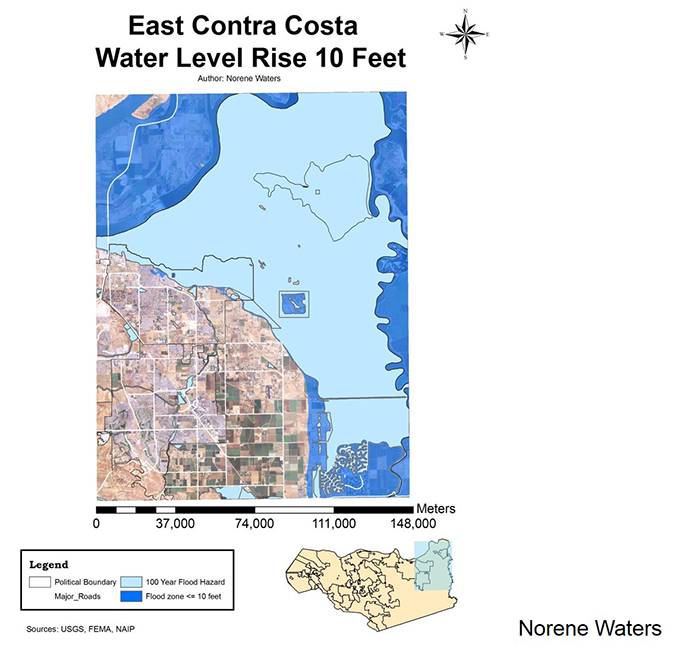 east contra costa college water level rise