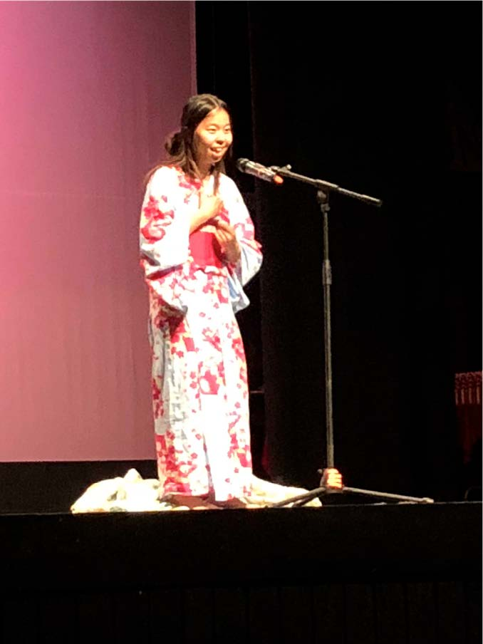 Yuka Hamada's performance of the Chinese song