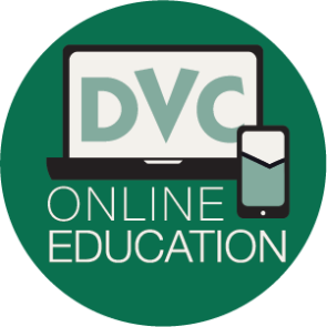 online ed logo with computer, phone, and DVC logo