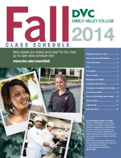fall schedule 2014