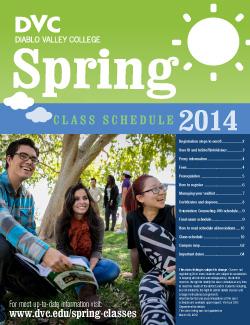 spring schedule 2014