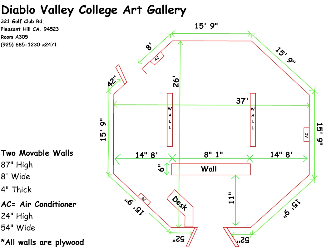Gallery Show Proposal on san ramon dvc campus, dvc concord campus, pleasant hill ca, map of southeastern technical college campus,