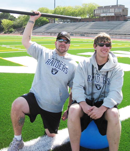 Rob Seeley and Ryan Allison, Oakland Raiders interns