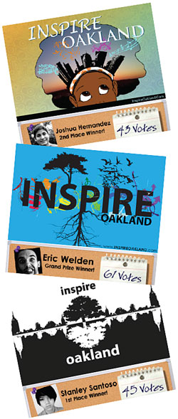 Inspire Oakland contest winners