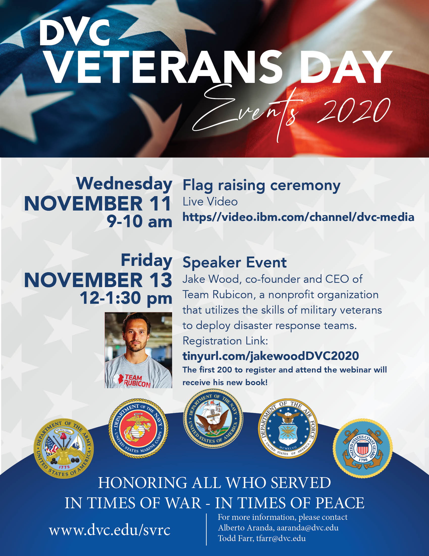 Veterans Week Fall 2020 Flyer