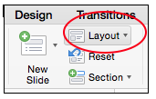 Layout button