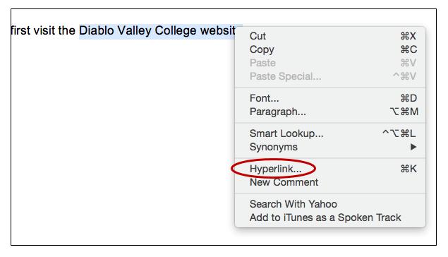 screenshot of a right-click menu