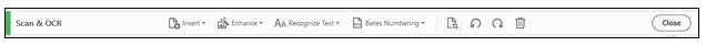 Scan & OCR toolbar