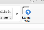 styles pane button